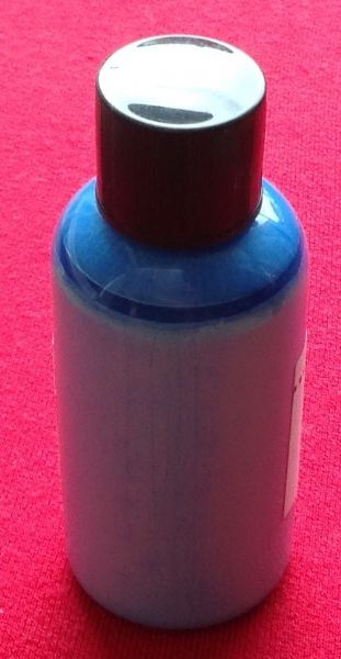 "Computer Matched 50ml Bottle of ""Sea Blue"" brush paint for Dinky Toys Foden tanker back"